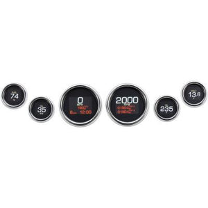 Fat Head Cycles Harley-Davidson Accessories Chrome Dakota Digital Gauge Set for Harley-Davidson® Touring | 1996-2003