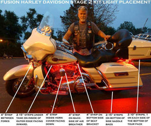 Fat Head Cycles Harley-Davidson Accessories Harley-Davidson® Fusion Stage 2 LED Lighting Kit | Touring Bikes