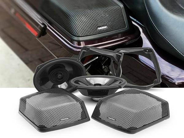 Fat Head Cycles Harley-Davidson Custom Audio Open Box: Rockford Fosgate 6x9 Speaker Lid Kit | '98 -'13 Harley-Davidson® Motorcycles