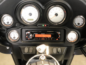 Fat Head Cycles Harley-Davidson Custom Audio Sony MEX-M72BT w/ Metra 99-9600 HD Install Kit Plug and Play Bundle | '99 -'13