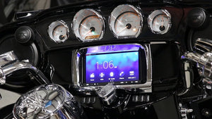 Fat Head Cycles Harley-Davidson Custom Audio Sony XAV-AX7000 Plug & Play Bundle w/ Metra 95-9700 Dash Kit | '14 - '19
