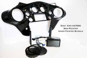 Fat Head Cycles Harley-Davidson Custom Audio Sony XAV-AX7000 Plug & Play Bundle w/ Metra 95-HDIF Inner Fairing | '99 - '13