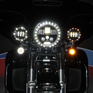 "Fat Head Cycles Harley-Davidson Custom Lighting ProBEAM® 4.5"" LED Plug & Play Passing Lamps For Harley-Davidson® 