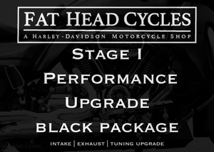 Fat Head Cycles Harley-Davidson Engine Parts Milwaukee-Eight Stage I Performance Upgrade Bundle | Black Package