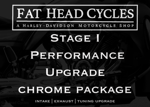 Fat Head Cycles Harley-Davidson Engine Parts Milwaukee-Eight Stage I Performance Upgrade Bundle | Chrome Package