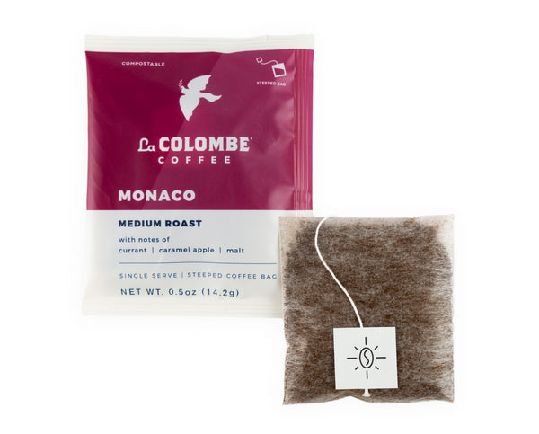 La Colombe Steeped Coffee Single-Serve Pack and Bag