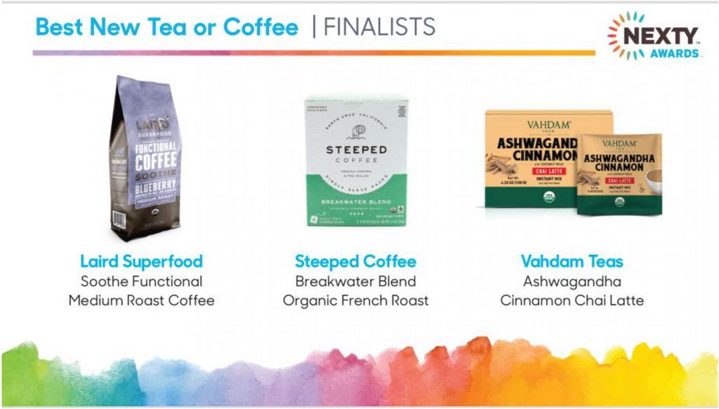 Nexty Award Finalists in Coffee and Tea for Best New Product