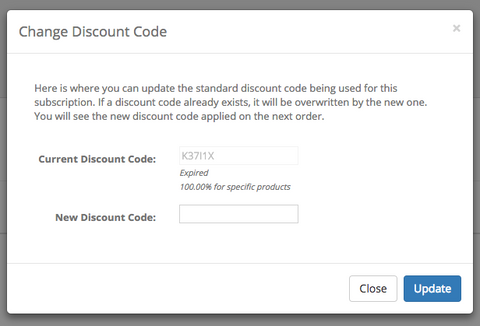 Subscription Discount Codes