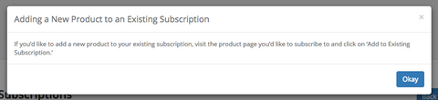 Subscriptions Add Product
