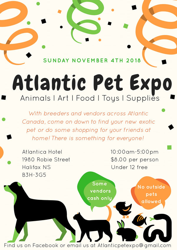 Obie's Worms at Atlantic Pet Expo Nov 4th!