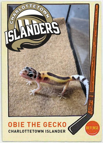 Obie the Gecko; Hockey player card