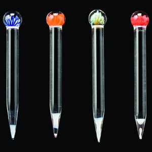 Red Eye Glass Flower Marble Dabber