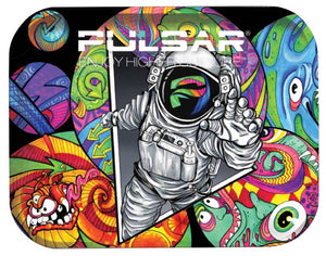 "Pulsar 11"" x 7"" Metal Rolling Tray - Medium - Psychedelic Spaceman"
