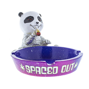 "6"" x 4"" x 3"" Spaced Out Panda Ashtray"