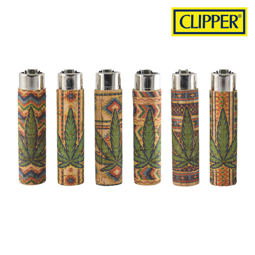 CLIPPER POP CORK LEAVES 7 LIGHTERS COLLECTION