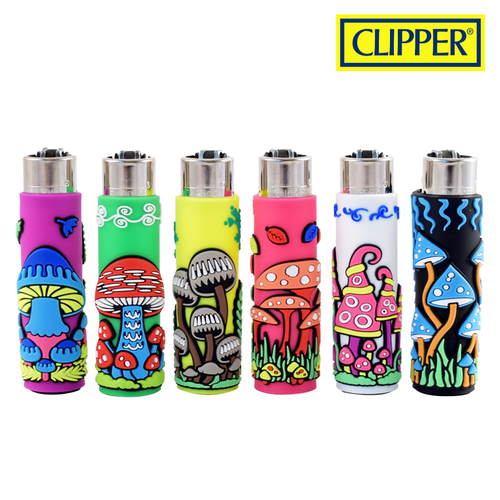 CLIPPER POP COVER MUSHROOMS 2/30 LIGHTERS COLLECTION