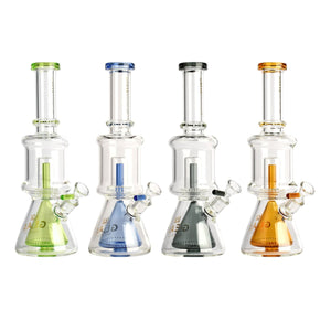 "GEAR Premium 11.5"" Dual Chamber Beaker Tube with Showerhead Perc"