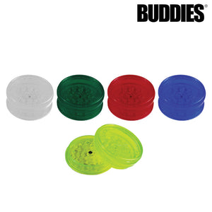 BUDDIES­­ PLASTIC MAGNETIC GRINDER W/ SCREEN - 2 PC
