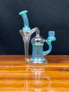 J-Honey Heady Recycler with Reticello and Colour Accents