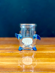 Kahuna Glass Clear Scalien Qtip Holder
