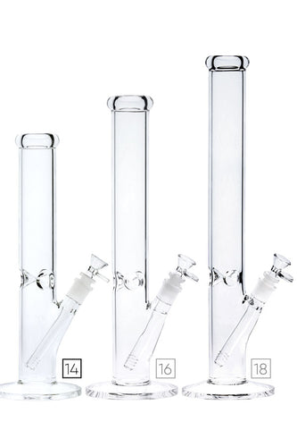 Nice Glass No Logo Clear Straight Bong