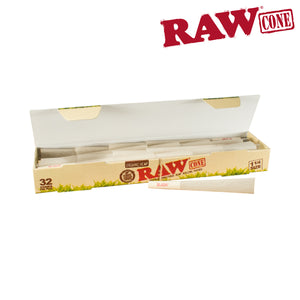 RAW ORGANIC PRE-ROLLED CONE 1¼ – 32/PACK