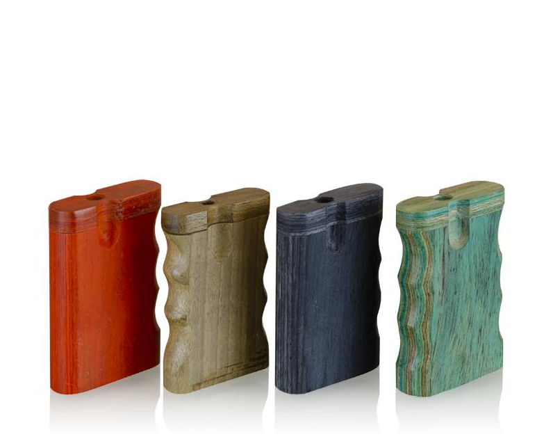 Small Wooden Dugout W/Grip Assorted Colours