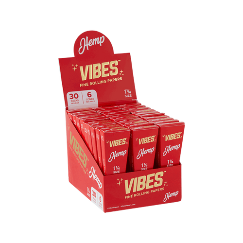 Vibes Cones 1 1/4 Hemp - Coffin