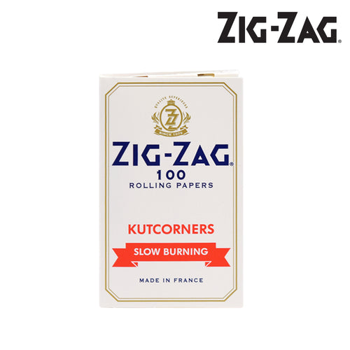ZIG ZAG KUTCORNERS WHITE SLOWBURN ROLLING PAPERS