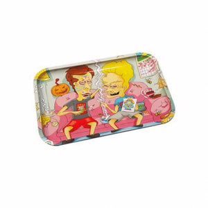 "Dunkees 13"" x 9"" Tin Metal Rolling Tray - Beavis & Butthead"