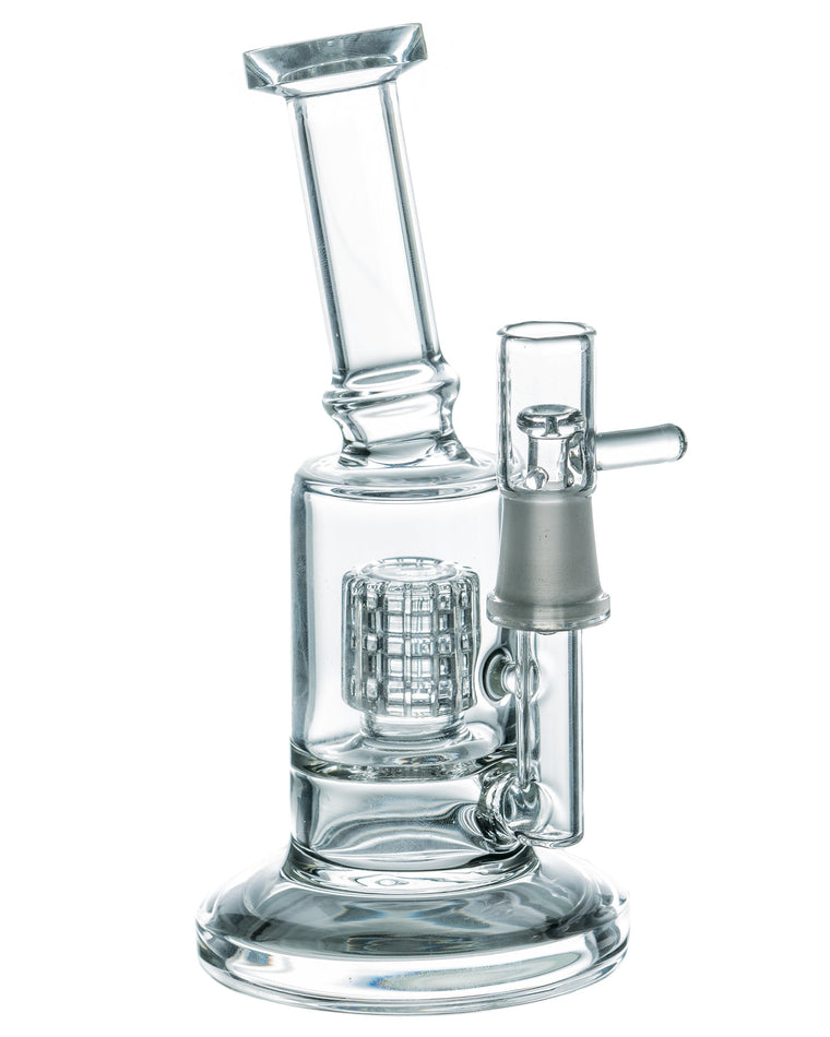Mini Dab Rig with Barrel Perc