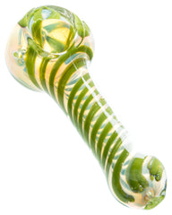 Green Swirled Spoon Pipe