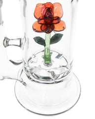 worked glass rose