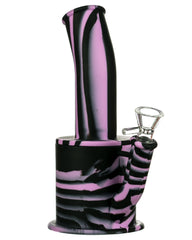 Purple and Black Silicone Bong