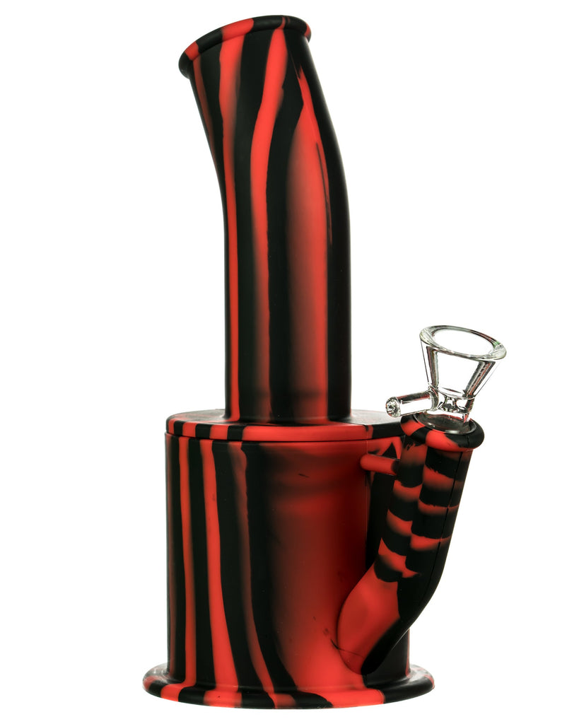 Red and Black Silicone Bong