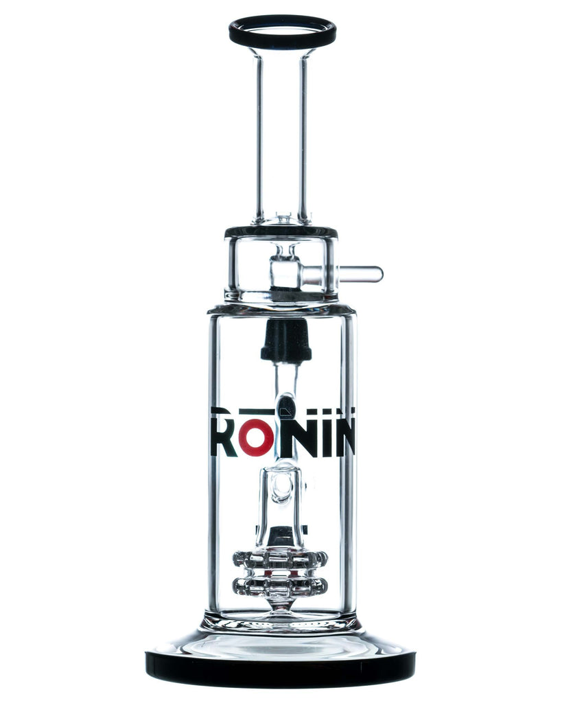 """Bun'ei"" Double Disk Perc Bong by Ronin Glass  - Smoky Mountain Head Shop"
