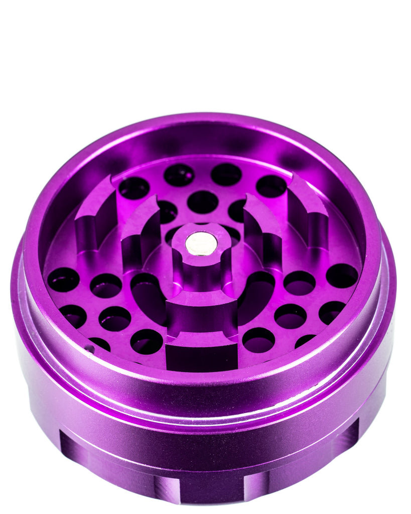 3-Piece Large Radial Teeth Aluminum Grinder by Sweet Tooth  - Smoky Mountain Head Shop