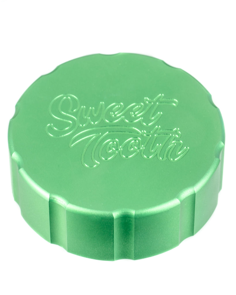 4-Piece Medium Radial Teeth Aluminum Grinder by Sweet Tooth  - Smoky Mountain Head Shop