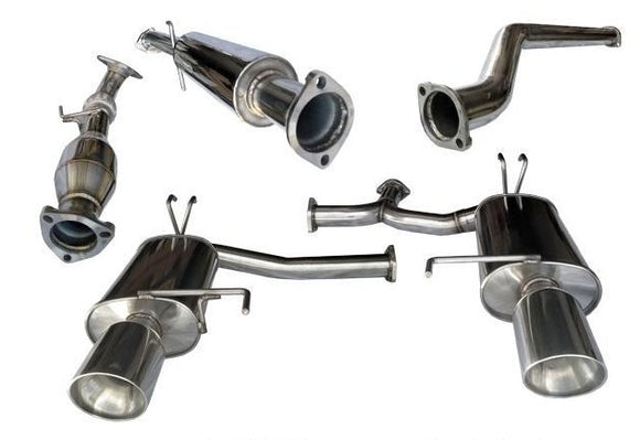 Tsudo 2009-2014 Acura TSX Dual SP2 Catback /w Test pipe Exhaust - CNT Racing