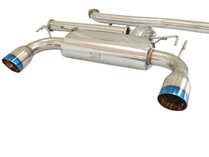 CNT Racing Version RS 08-14 Mitsubishi EVO X catback Exhaust system (blue tips) - CNT Racing