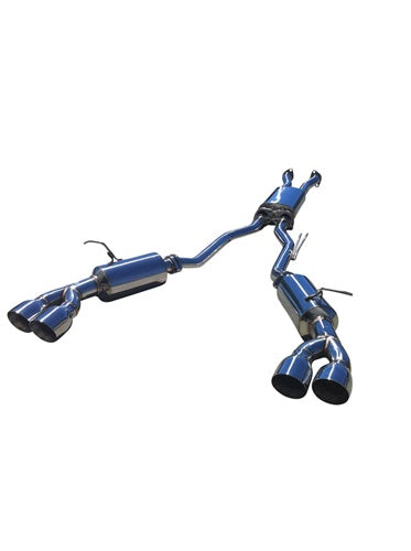 CNT Racing V3 version 2 Hyundai Genesis V6 Catback Exhaust  quad 4 inch tips silver tips ( pre order ) - CNT Racing