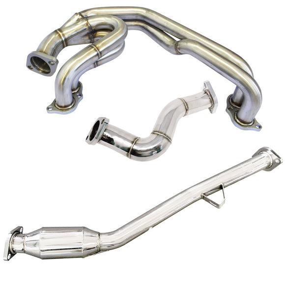 CNT Racing Unequal Length Header w/ Catless Front Pipe & Over Pipe for BRZ / FR-S / GT86