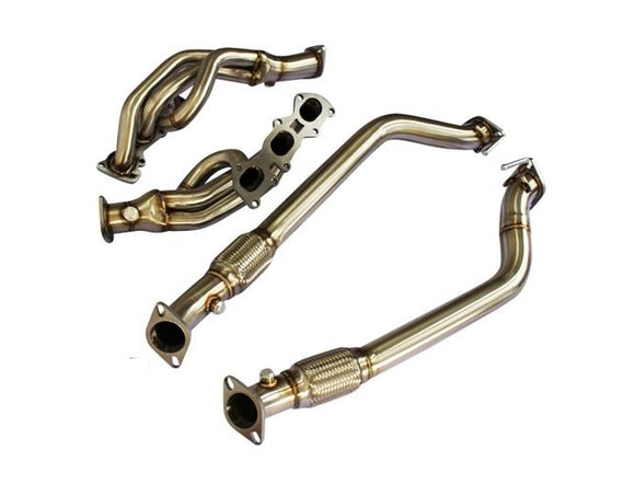CNT Racing 10-15 Hyundai Genesis V6 stainless steel long tube header with down pipe