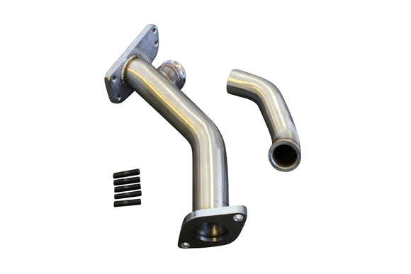 CNT Racing External Wastegate Up Pipe w/ Dump Tube 38mm V-Band WRX/STI/LGT/FXT - CNT Racing