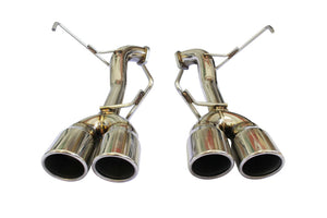 CNT Racing 2015-2018 WRX/STi Sedan muffler delete axleback Quad Tip Exhaust Systems silver tip - CNT Racing