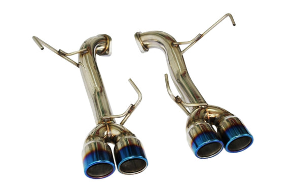 CNT Racing 2015-2018 WRX/STi Sedan muffler delete axleback Quad Tip Exhaust Systems blue tips - CNT Racing