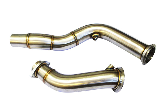 CNT Racing Stainless Steel Catless Downpipes S55 14+ BMW M3 & M4 - CNT Racing