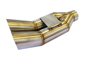 CNT Racing blast pipe exhaust V2 STAINLESS UNIVERSAL MUFFLER Kick up style - CNT Racing