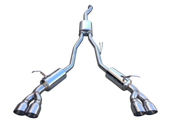 CNT Racing V3 Hyundai Genesis 2.0T Catback Exhaust 3 inch Piping quad 4 inch tips ( silver tip) - CNT Racing