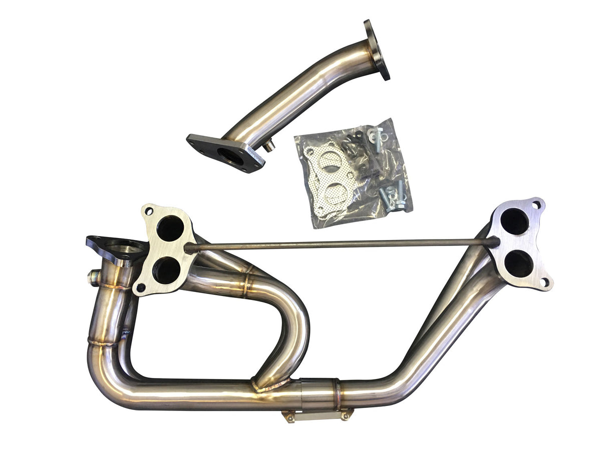 CNT Racing Blastpipes blast pipe exhaust V2 STAINLESS for STI EVO and Mazdaspeed